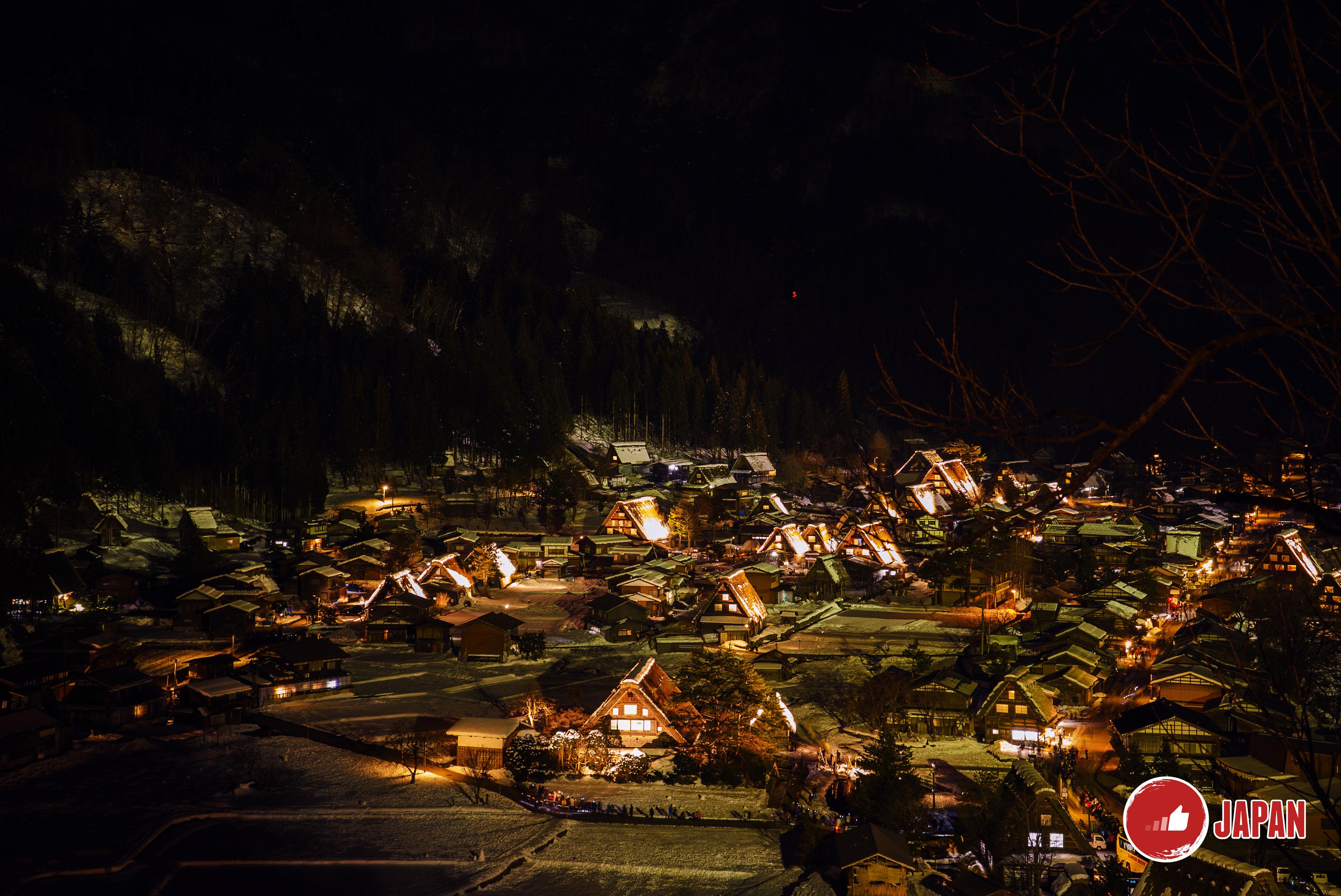 【貝遊日本】高山&白川鄉點燈LOCAL TOUR (PART 2) 之白川鄉點燈夜景