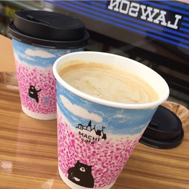 日本便利店又有新野!MACHI cafe 櫻花熊熊杯(心心眼)