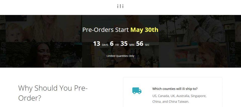 超輕便翻譯神器ili 隨身翻譯機5月30日開始預售
