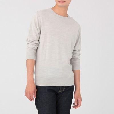 男裝羊毛真絲可機洗圓領針織衫