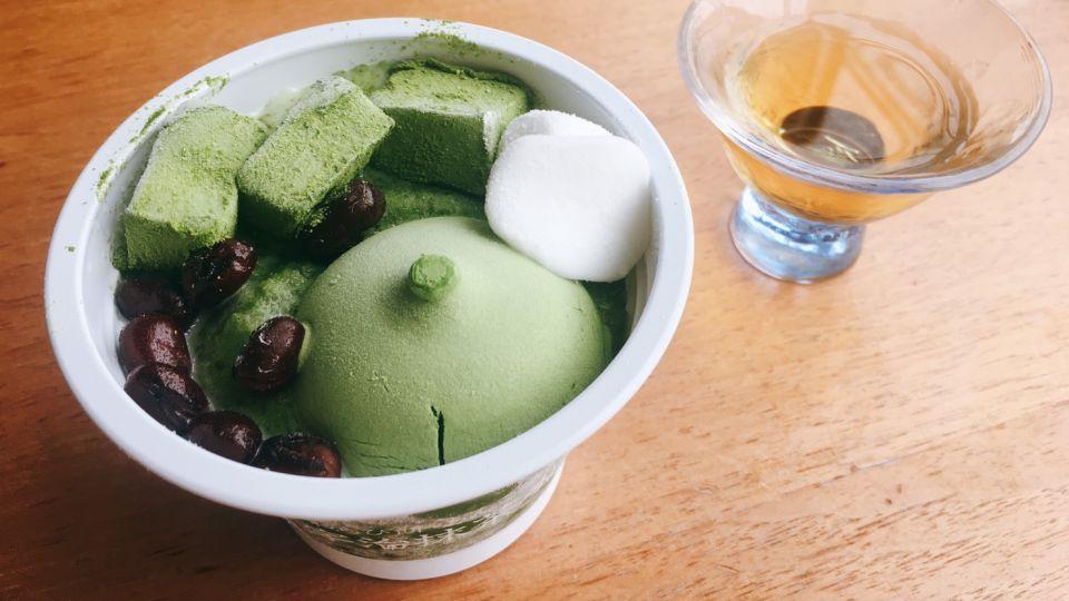 日本7-11,超香濃抹茶甜品「宇治抹茶刨冰」