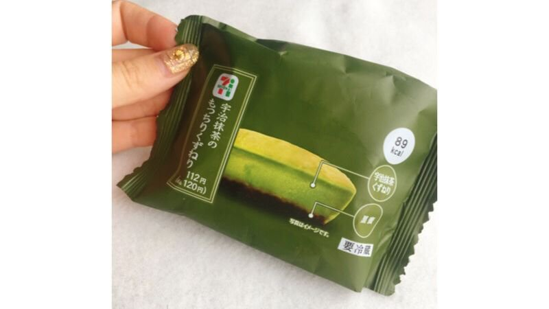 日本7-11,不能錯過的甜品「抹茶Q彈葛餅」