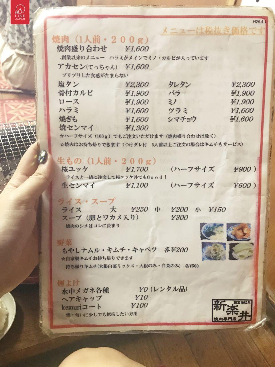 [自遊大阪] 鶴橋燒肉橫町 必食傳統燒肉店 新樂井 大阪自由行