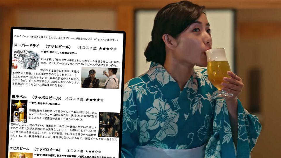 在Twitter上勸酒的日本人 真心十大初心者啤酒名單