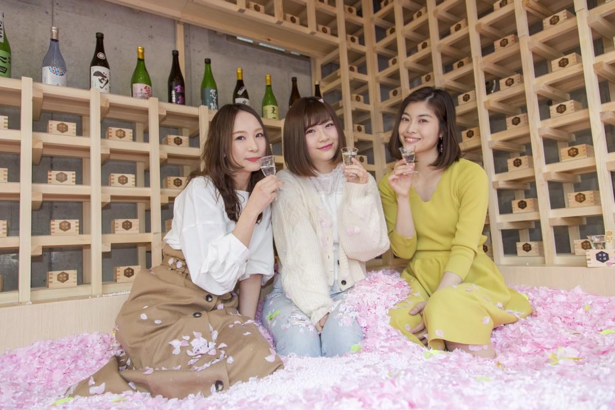 東京表參道 日本櫻花花瓣池酒吧 被120萬塊櫻花花瓣掩蓋
