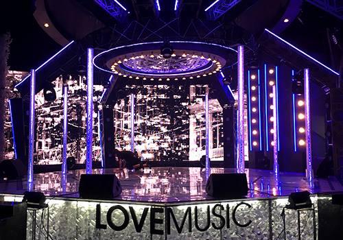 富士電視台音樂節目「Love music」佈景設計大揭密