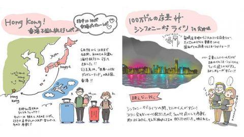 日本漫畫家來港旅行 插圖記錄行程提及香港加油 / 日本在香港