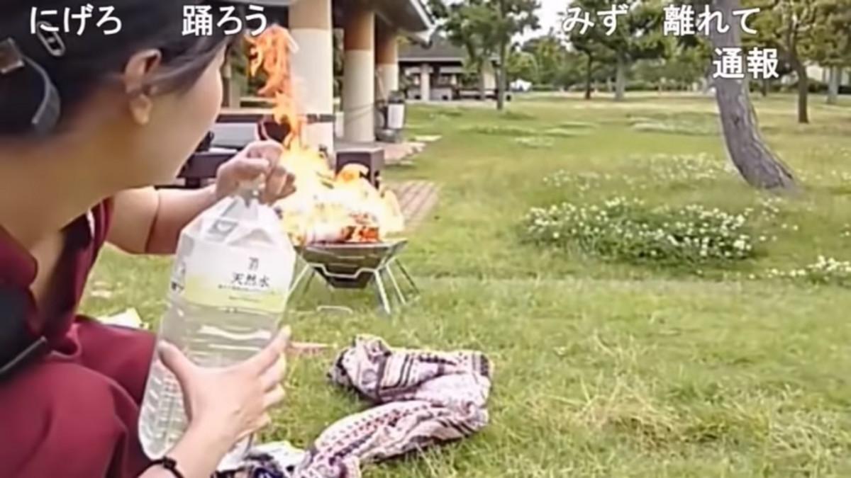 「燃起來了!」第500次直播紀念活動 女實況主小幡友美直播露營 險釀火災